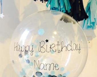 Personalised Confetti Bubble Balloon