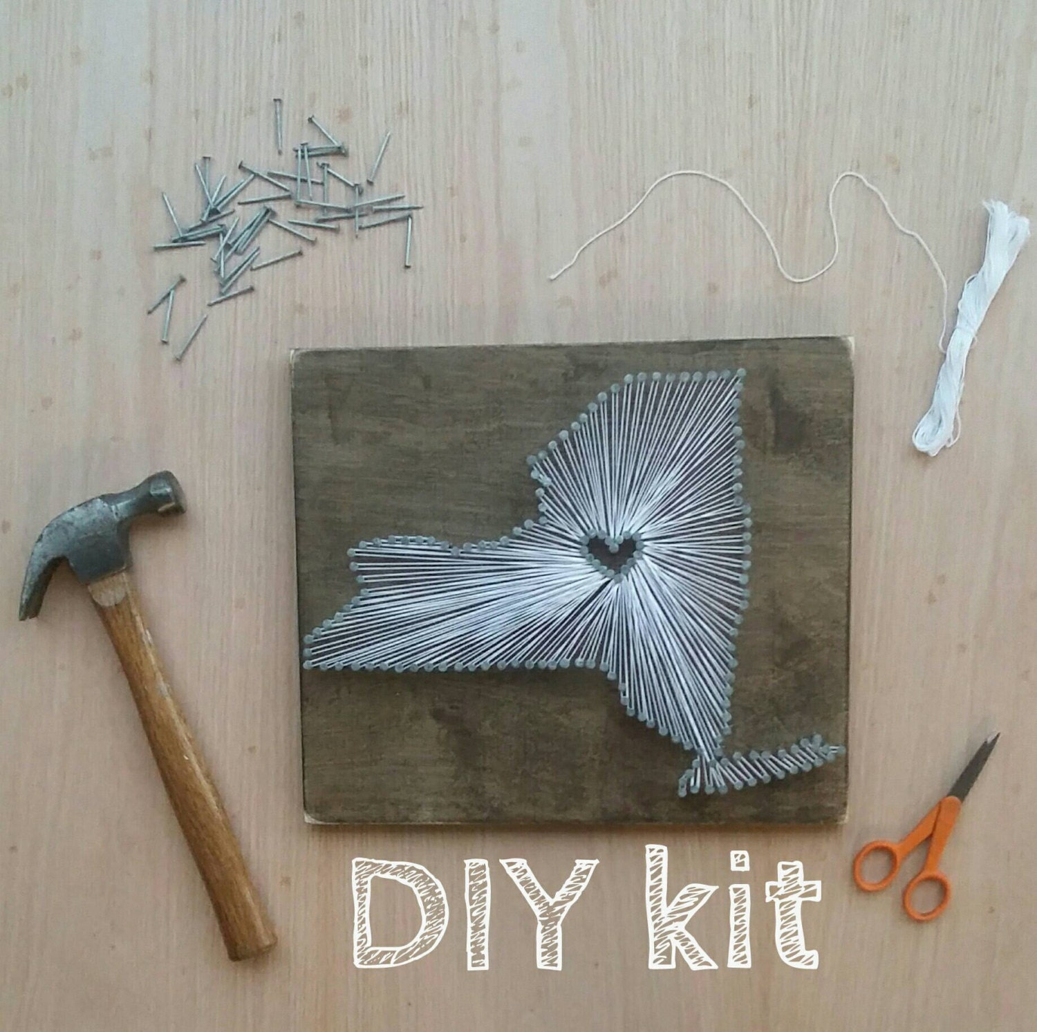Diy new york string art kit state string art new york nail for Diy nail and string art