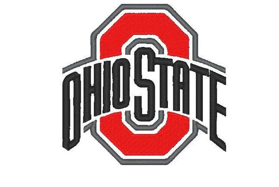 Ohio state buckeyes football logo embroidery by Oh design