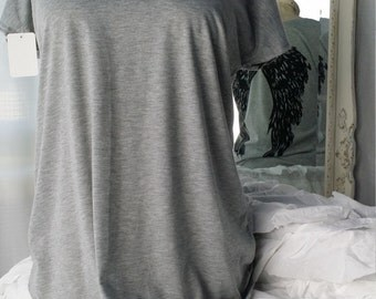 Grey With Black Wings Tee