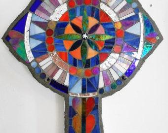 Mosaic celtic cross