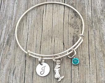 Mermaid bracelet -  Mermaid jewelry - Beach lovers gift - Mermaid - charm bracelet - bracelet - beach bracelet - nautical bracelet - bangle