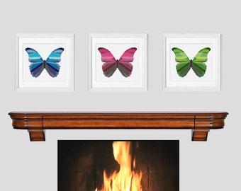 Modern Cross Stitch Pattern, butterfly cross stitch pattern, butterfly counted cross stitch pattern