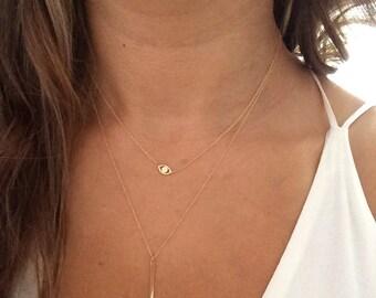 14k solid gold evil eye  necklace good luck necklace
