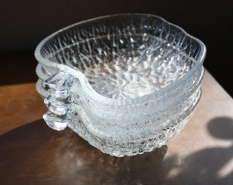 Set of 3 Clear Glass Apple Serving Bowls