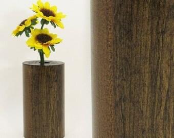 SALE - Bud Vase, Wood Vase, Wood Test Tube Vase, One Flower Vase, Wooden Bud Vase Centerpiece, Rustic Home, Home Decor, Unique Vase