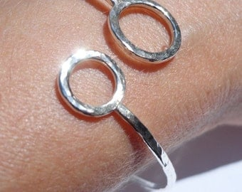 Handcrafted Hammered Sterling Silver Bracelet - Hammered Silver Wire Cuff - Sterling Silver Bangle - Sterling Silver Cuff