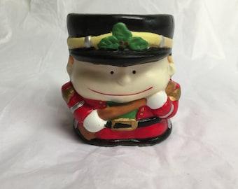 Porcelain Toy Soldier Candle Holder