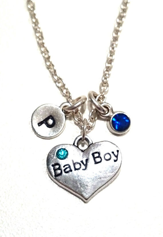 Baby Boy Gifts Jewelry : Baby boy necklace charm