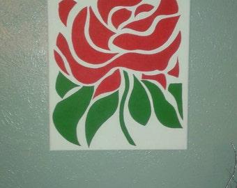 "Abstract ""ROSE"" wall art."