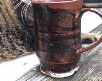 Brown and Black Mug