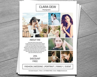 Photography Flyer Template Elegant Promotional Flyer Design - Photography brochure template free