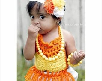 Orange yellow and white Headband - candy corn headbad - halloween headband - Rhinestone band -Toddler headbands- hair accessories