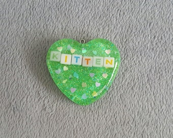 """Green """"Kitten"""" Mystery Collar"""