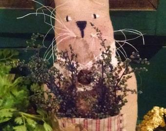 Primitive Handmade Spring Herb Bunny