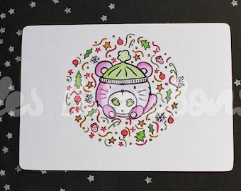 Small Chinchilla greeting card
