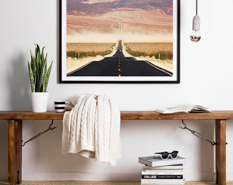 Road Photography, Highway, California Road, Death Valley, Road and Mountain, California Print, California Photography,  Wall Art, Wall Decor
