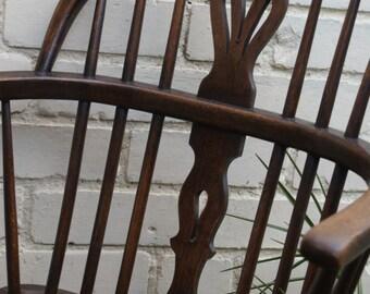 Ash and elm Windsor arm chair circa 1830