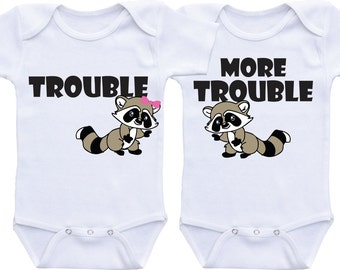 Twin Outfits Twin Onesies Gifts for Twins boy girl Twins baby gifts Boy Girl Twins Baby Twin Gifts Twin Baby CLothes Twin Baby shower gift