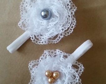 lace flower with pearls