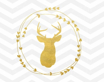 Deer SVG CUT File, Baby Boy SVG File, Antler Deer, Toddler, Cutting File, png, Cricut, Silhouette, Iron On Vinyl, Toddler Antlers