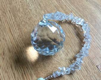 Feng Shui Crystal with Clear Quartz - Feng Shui Crystal - Spiritual Home Decor - Feng Shui Home Decor - Feng Shui Sun Catcher - Sun Catcher