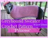 Princess Greyhound Sweater Crochet Pattern (PATTERN ONLY)