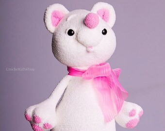White Teddy Bear / Crochet Bear / Amigurumi