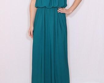 Teal bridesmaid dress Long Maxi dress Full length dress