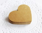 Heart Tags, Kraft Heart Tags, Heart Die Cuts, Gift Wrapping