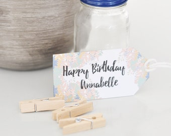 Personalised Happy Birthday Gift tag