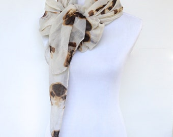 Scarves for Women, Shawls, Beige Scarf, Dog Print Scarf, Womens Scarves, Fashion Scarf, Women Fashion Accessories, Summer Scarf