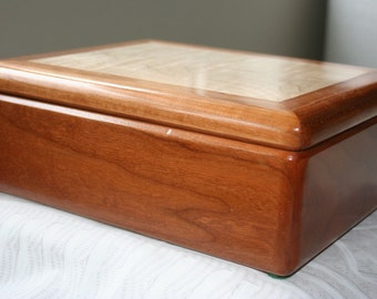 Wood Jewelry Box, Wooden Jewelry Box, Wooden Keepsake box, Jewelry Storage Box.
