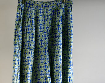 Vintage Pattern Wide Pants
