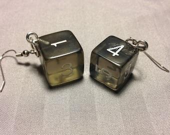 Transparent Gray D6 earrings