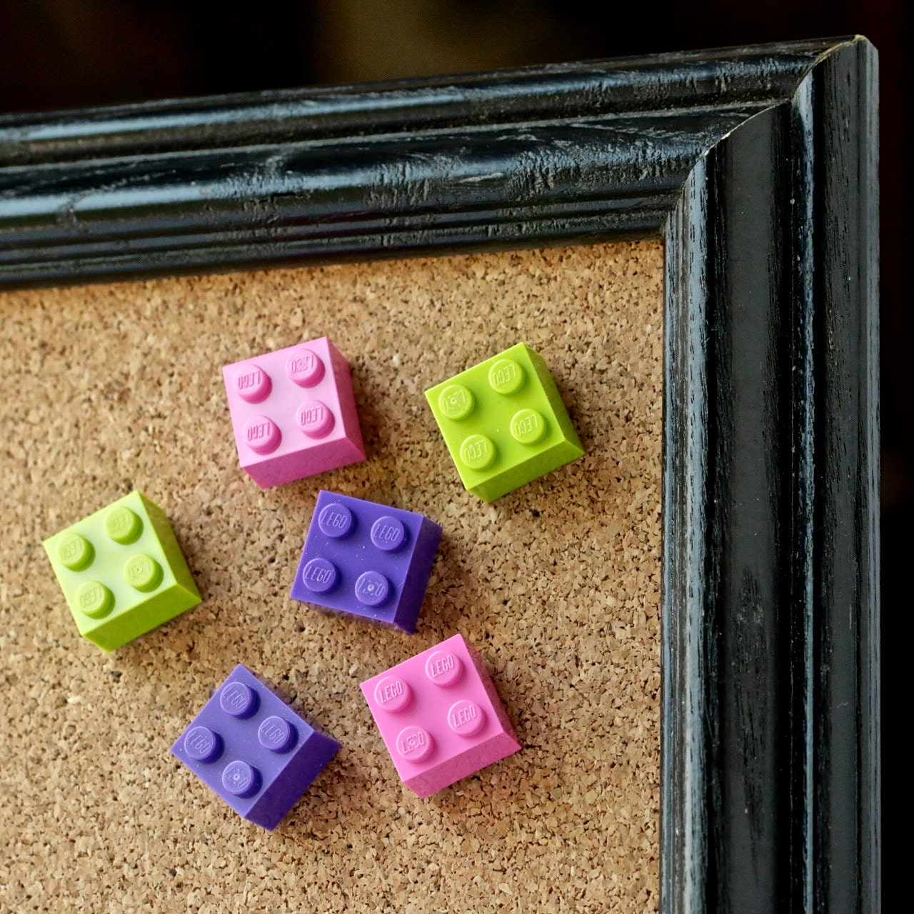 LEGO® party favors Corkboard push pins Pretty by ...