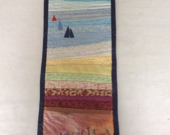 Sailing textile picture hand made