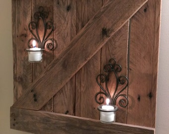 Rustic Reclaimed Wood Barn Door Wall Hanging
