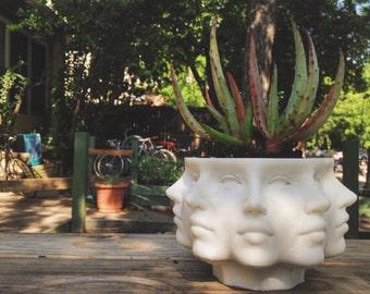 3D Printed 9 Faced Succulent Planter