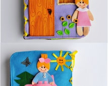 Dollhouse Quiet Book/ 12 pages/ Felt Quiet Book/ Busy Book/ Handmade/ Travel Toy/Personalized busy book/ Made to order