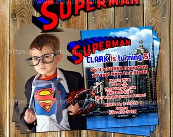 Superman Invitation-Superman Birthday Invitation-Superman Birthday-Superhero Invitation-Superhero Birthday Invitation-Super Friends-9900