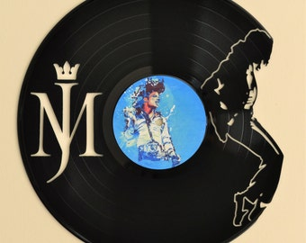 Michael Jackson  Vinyl Record Wall Art