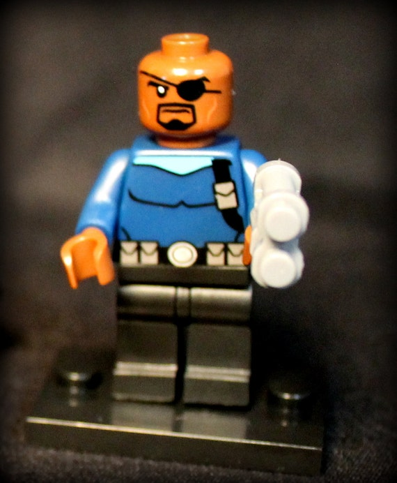 Nick Fury Marvel Avengers Superhero. Custom Minifigure. Lego