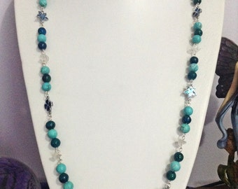 Water elemental beaded necklace