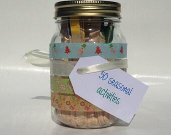 Seasonal Activity Jar, Family Activity Jar, Couples Activity Jar, Friends Activity Jar, Family Gifts, Couples Gifts, Friends Gifts