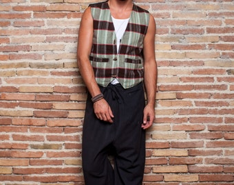 Men Woolen Vest, men tribal vest, men classical vest, hippie vest