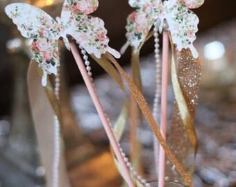 Butterfly Princess Wands/Garden Tea Party Wands