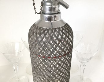1930's Art Deco Sparklets Seltzer Bottle