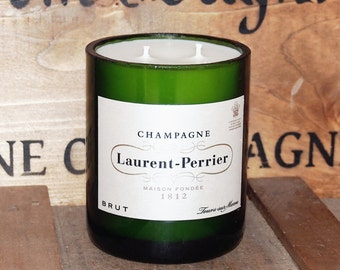 Upcycled Laurent Perrier Champagne Candle