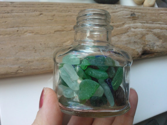 Vintage bottle filled with sea glass scottish sea by sewisea for Easy break glass bottles